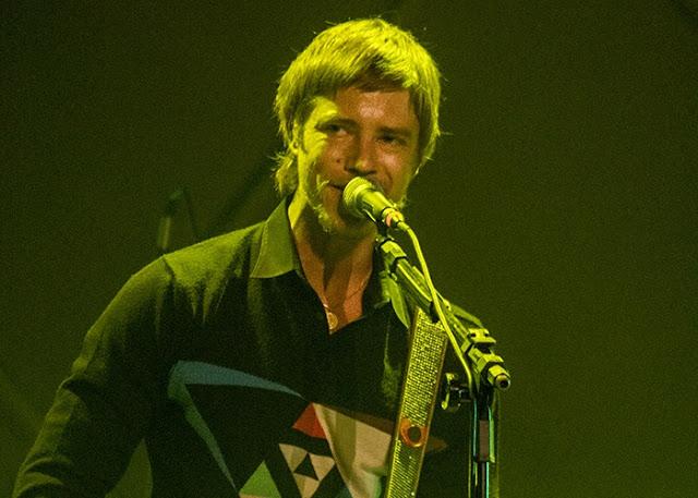 Paul Banks sorrindo - Cine Joia - São Paulo